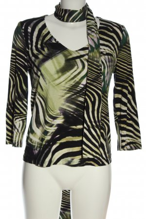 Steilmann Longsleeve black-green abstract pattern casual look