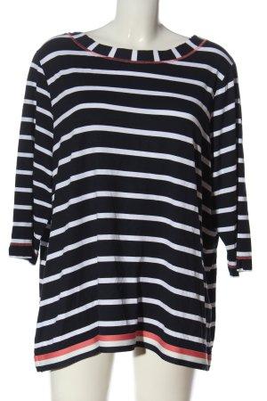 Steilmann Camicetta a maniche lunghe nero-bianco motivo a righe stile casual