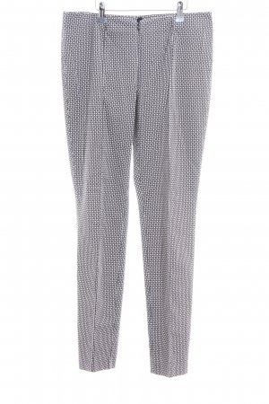 Steilmann Pantalone jersey nero-bianco stampa integrale stile professionale
