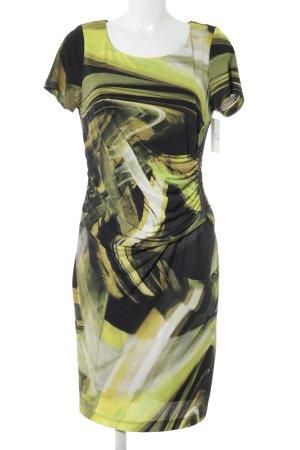 Steilmann Stretchkleid abstraktes Muster extravaganter Stil