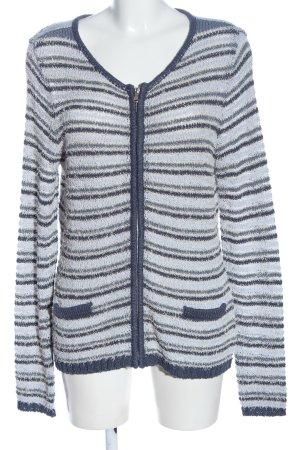Steilmann Cardigan light grey-blue striped pattern casual look