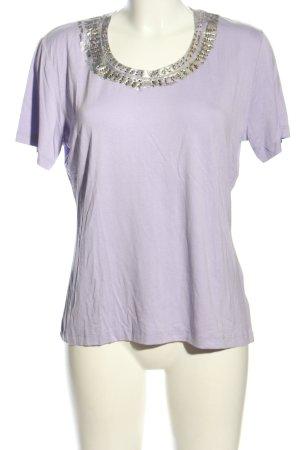 Steilmann T-Shirt lila Casual-Look