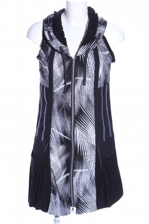 Steilmann Trägerkleid schwarz-weiß abstraktes Muster Casual-Look