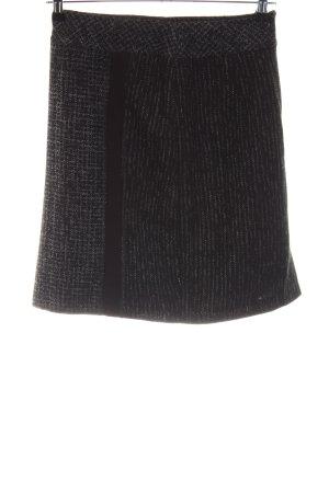Steilmann Wollrock schwarz-wollweiß Streifenmuster Casual-Look