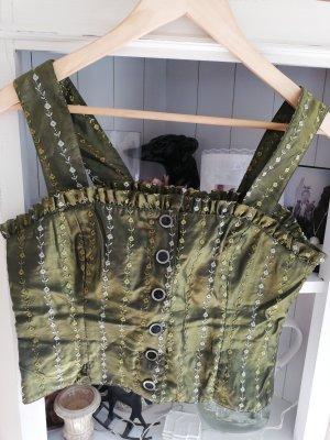 Steinbock Tirol Silk Top olive green-khaki polyester