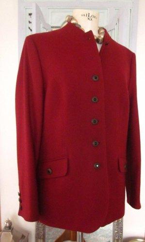 Steinbock Blazer de lana carmín-rojo oscuro