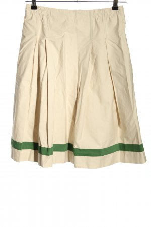 Steinbock Jupe à plis blanc cassé-vert style décontracté