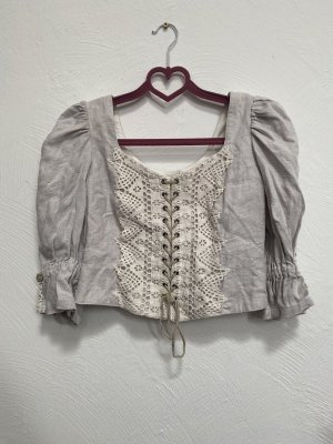 Steinbock Tirol Linnen blouse veelkleurig Linnen