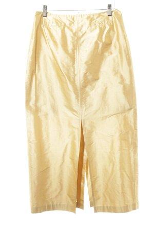 Steinbock Seidenrock goldfarben Elegant