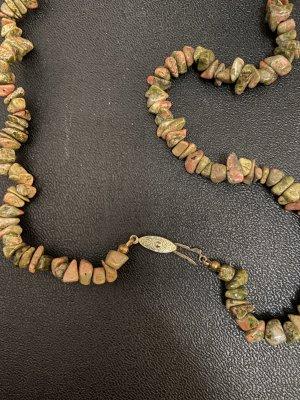 Steine Halskette lang vintage