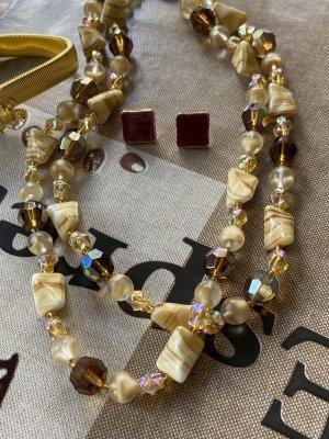 Steine Halskette vintage ca 60 cm lang