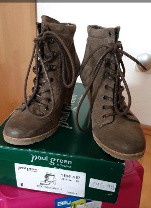 Paul Green Aanrijg Pumps grijs-bruin