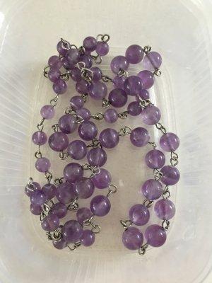 Steinkette Halskette lila wunderschön
