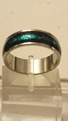 Steinles Steel Ring schwarz/grün Gr .21 Unisex