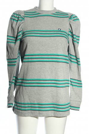 Stella and Lori Longpullover hellgrau-türkis Allover-Druck Casual-Look