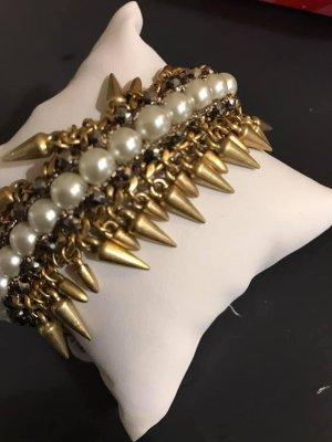Stella & Dot Armband Gold mit Perlen Neu