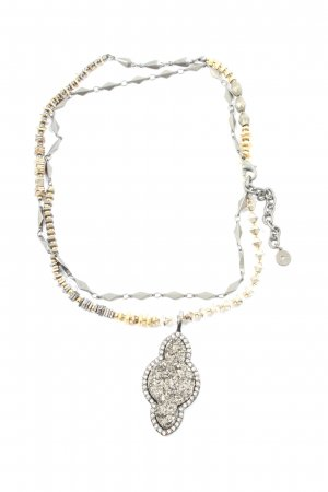 Stella & Dot Collier Necklace silver-colored-gold-colored elegant