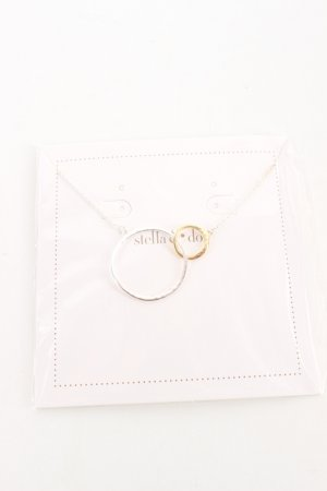 Stella & Dot Ketting zilver-goud casual uitstraling