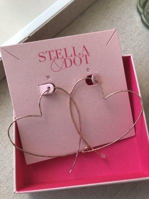 Stella & Dot Orecchino a cerchio color oro rosa