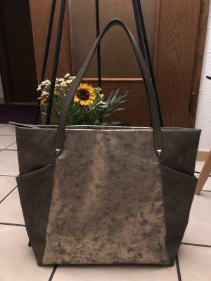 Stella & Dot Torba shopper szary-srebrny