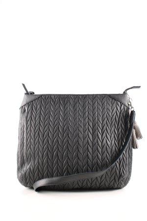 Stella & Dot Umhängetasche schwarz-silberfarben Casual-Look