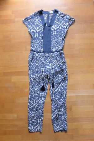 Stella Forest Overall Jumpsuit Boho Ethno blau weiß Gr. 36 S (38)