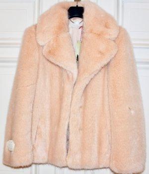 Stella Mc Cartney Fake Fur Jacke Faux Pelzjacke nude / rosa Gr. 42 NEU NP 780€ vegan