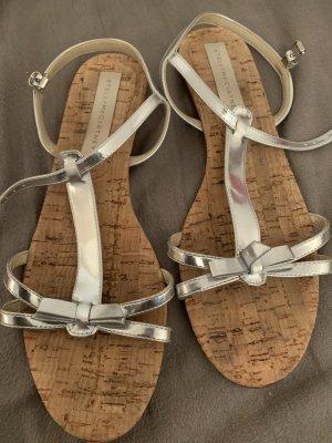 Stella McCartney Sandalias para uso en exteriores color plata