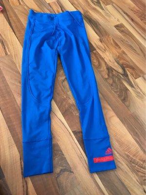 Adidas by Stella McCartney Short de sport bleu-rouge brique