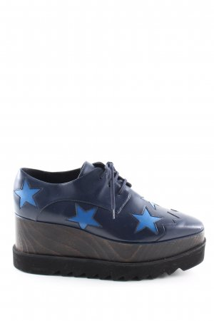 Stella McCartney Absatz Sneaker blau-braun extravaganter Stil