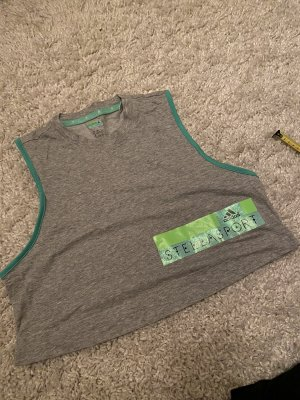 Stella McCartney Adidas cropped top stellasport M grau shirt