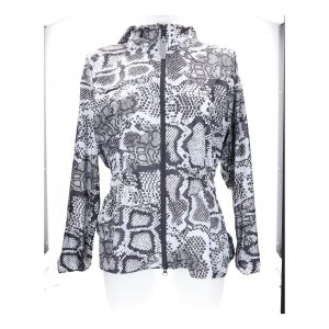 Stella McCartney Adidas Jacke Gr M 38 schwarz weiss Schlangen Print
