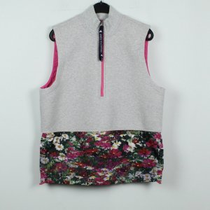 Adidas by Stella McCartney Cardigan long gris clair-rose tissu mixte