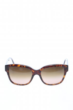Stella McCartney Gafas de sol cuadradas marrón estampado con diseño abstracto
