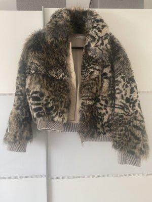 Stella McCartney Fake Fur Jacket brown-light brown