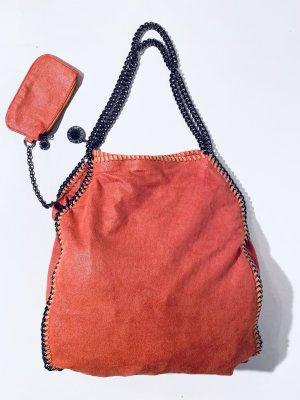 """Stella McCartney """"Falabella"""" Handtasche orange mit Pochette"""