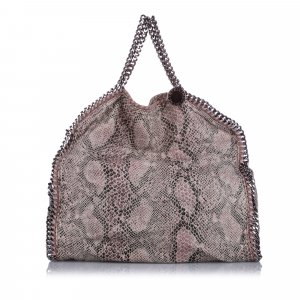 Stella McCartney Falabella Python Fold-Over Tote