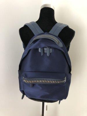 Stella McCartney Sac à dos pour ordinateur portable bleu foncé-argenté nylon