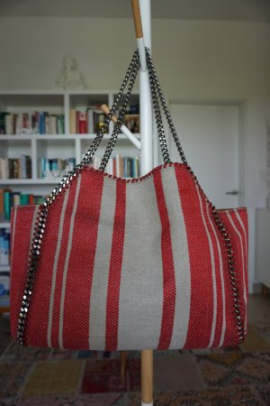 STELLA MCCARTNEY Falabella striped reversible tote NP800€ 100% Original Vegan