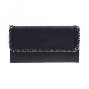 Stella McCartney Falabella two-fold purse Navy purse