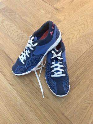 Adidas by Stella McCartney Sneakers met veters staalblauw-donkerblauw