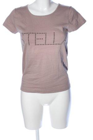 Stella McCartney for H&M T-Shirt braun Schriftzug gedruckt Casual-Look