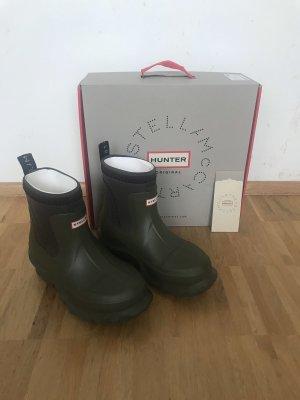 Stella McCartney Botte en caoutchouc gris vert-kaki