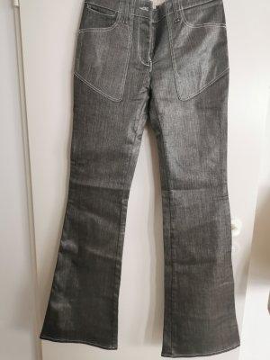 Stella McCartney Jeans a zampa d'elefante argento