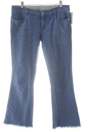 Stella McCartney Jeans a zampa d'elefante blu acciaio