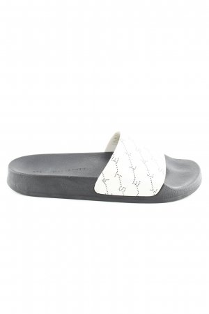Stella McCartney Komfort-Sandalen schwarz-weiß Schriftzug gedruckt Casual-Look