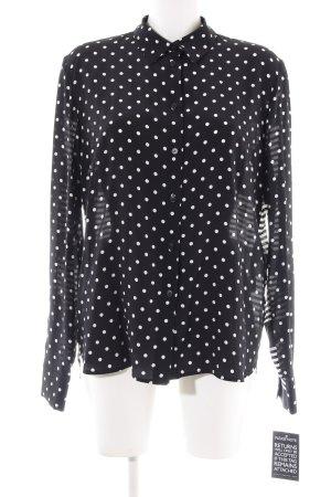 Stella McCartney Langarm-Bluse schwarz-weiß Allover-Druck Business-Look