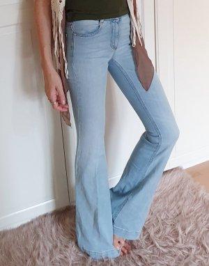 Stella McCartney Pantalón de campana azul claro Algodón