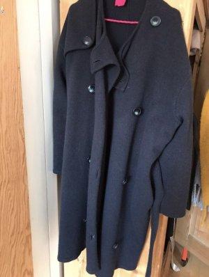 Stella McCartney Cappotto in lana blu scuro