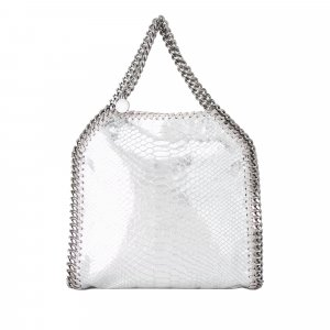 Stella McCartney Mini Falabella Faux Snake Skin Fold-Over Tote Bag